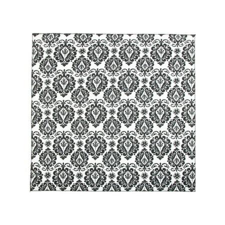 ctm®  damask print bandana, black and white (White Bandanas In Bulk)