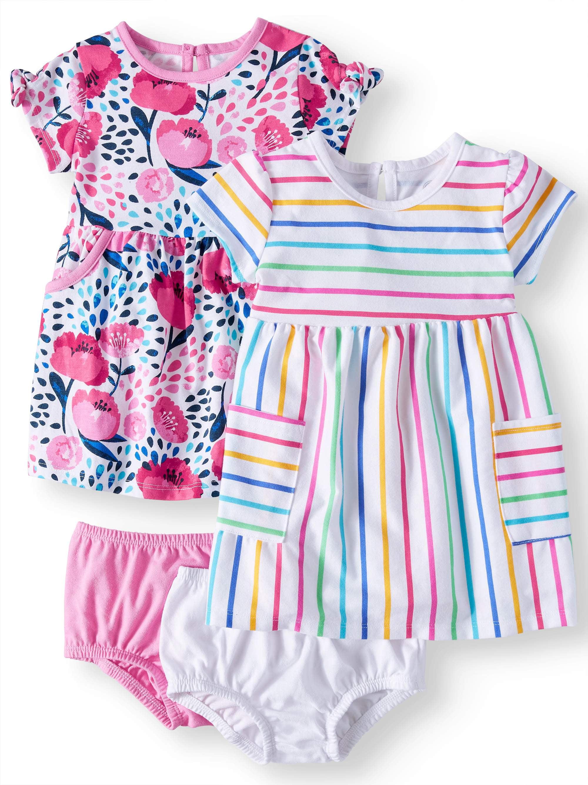 8a6be4f6ed0 Wonder Nation - Baby Girls  Knit Dresses