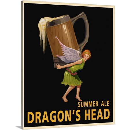 Great BIG Canvas | Steve Thomas Premium Thick-Wrap Canvas entitled Dragon's Head Ale (Steve Head)
