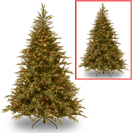 National Tree Pre-Lit 6 Feel-Real Frasier Grande Hinged Artificial Christmas Tree with 800 Dual LED Lights