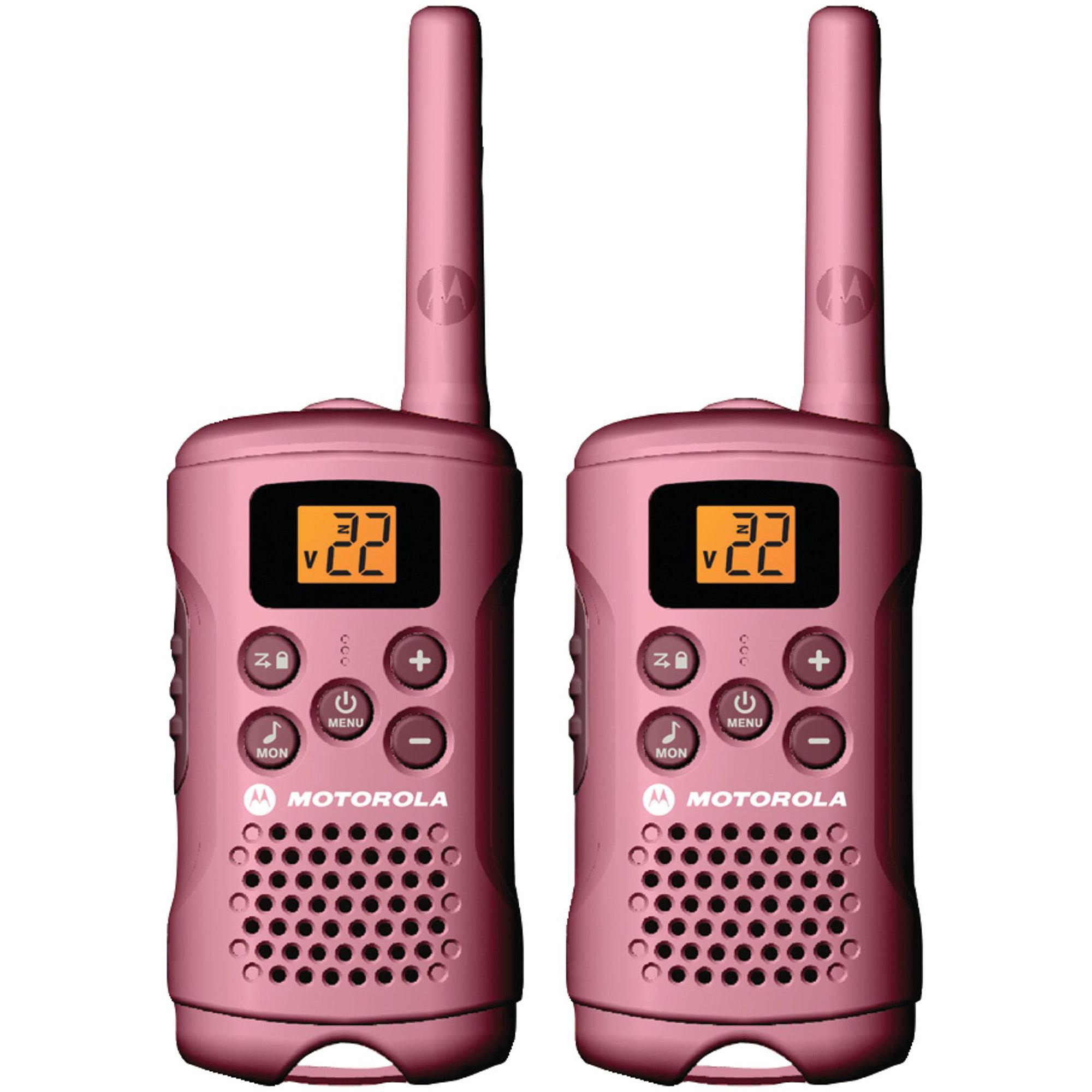 Motorola MG167A -16 Mile Talkabout 2-Way Radios (Pink), PAIR