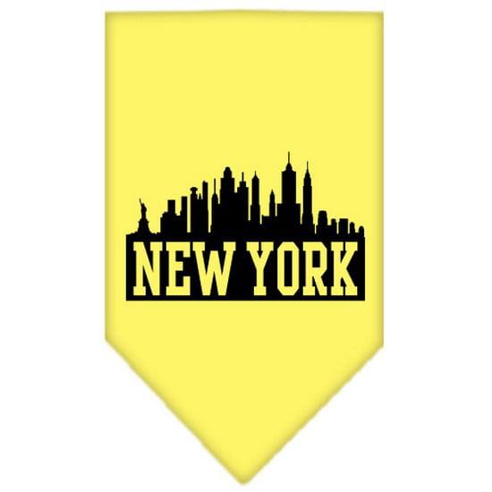 Mirage 66-75 LGYW New York Skyline Screen Print Pet Bandana Yellow Large