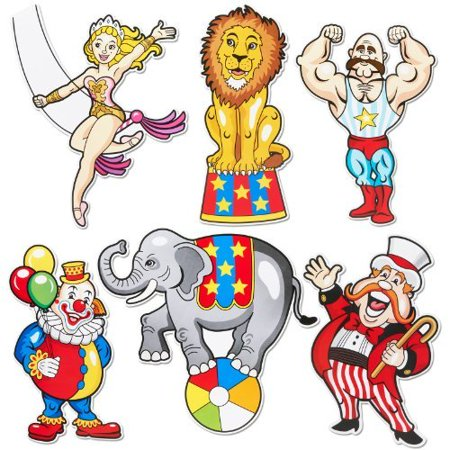Fun Express Carnival Cutouts Party Supplies - Carnival Cutouts