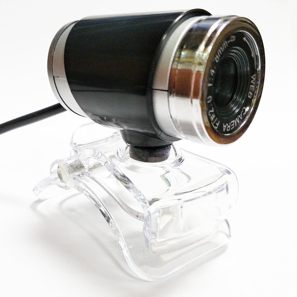 Webcam Hd- Usb 2.0 Web Camera With Build-In Microphone Clip-On 360 Degree