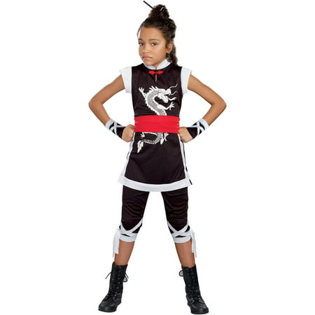 Kung Fu Cutie Girls' Child Halloween Costume, Large