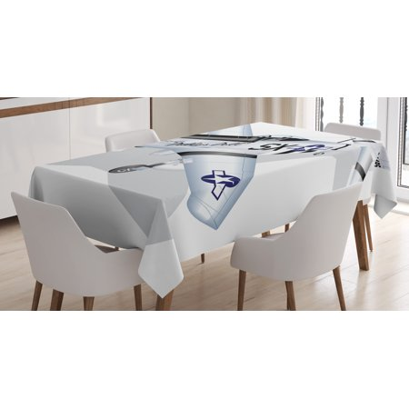 Vintage Airplane Decor Tablecloth, P-51 Mustang Dallas Doll Detailed ...