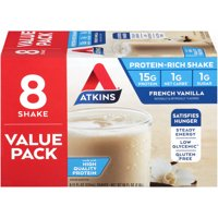 Atkins French Vanilla Shake, 11 fl oz, 8-pack (Ready to Drink)