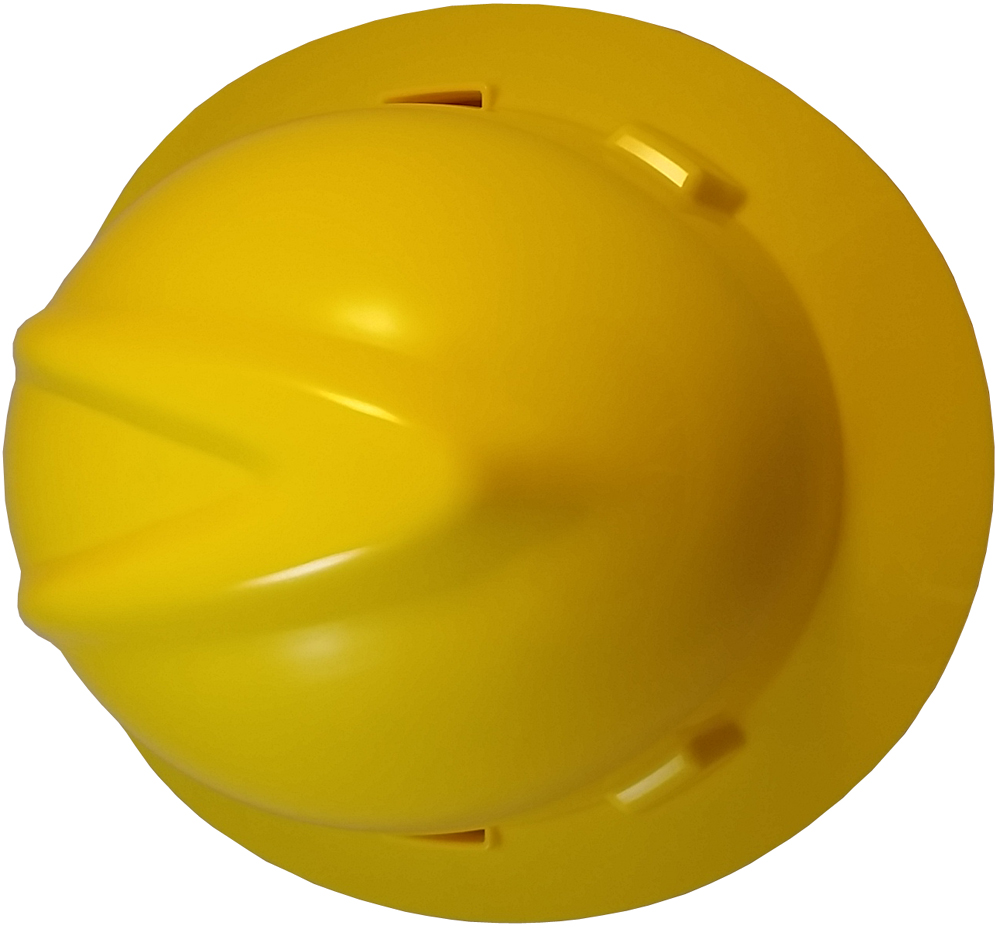 MSA V-Gard Full Brim Hard Hats with One Touch Suspensions