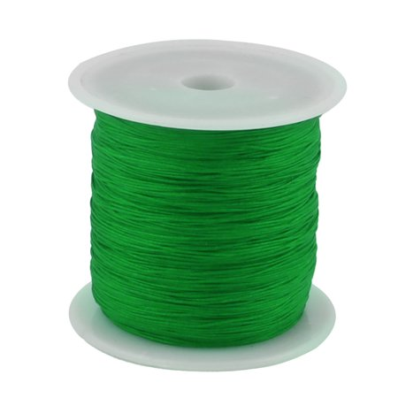 Nylon DIY Art Braided Beading Chinese Knot Cord String Rope Roll Green 153 Yards](Green Silly String)