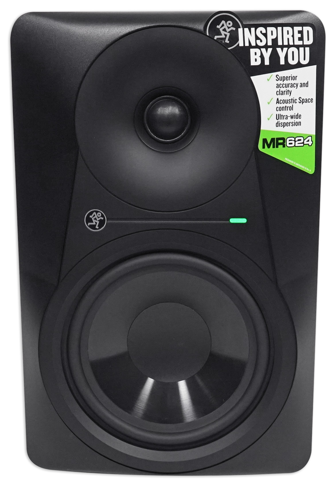 (2) Mackie MR624 6.5� 130 Watt Powered Active Studio Monitors+Stands+Pads by Mackie