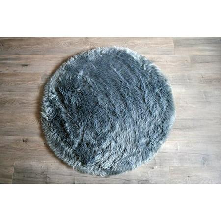 kroma carpets faux fur gray area rug. Black Bedroom Furniture Sets. Home Design Ideas