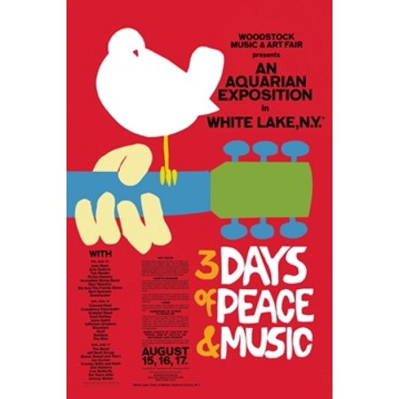WOODSTOCK 3 Days of Peace Poster Poster Print