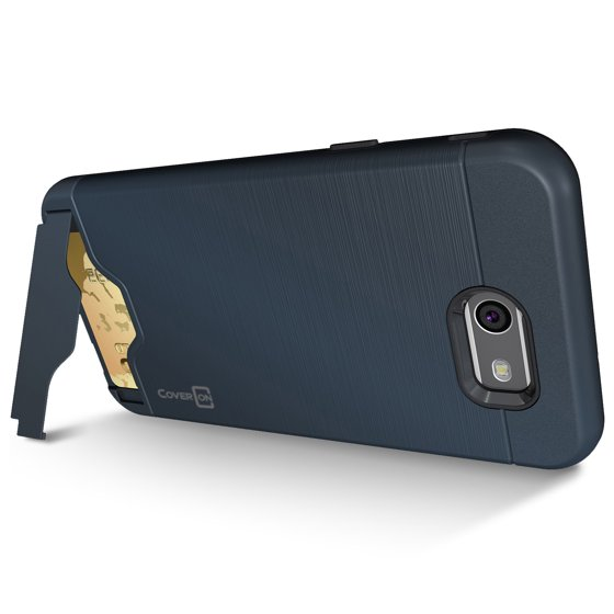 CoverON Samsung Galaxy J7 Prime / J7 Sky Pro / Halo Case, SecureCard Series Slim Protective Hard Phone Cover with Card Holder Slot - Walmart.com