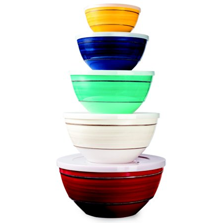 Melamine 10 Piece Mixing Bowl Set Walmart Com