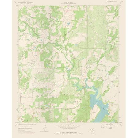 cf2f542b82c4 Topographic Map - Byrds Texas Quad - USGS 1969 - 23 x 27.84