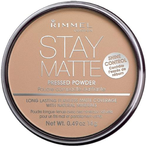 Rimmel London Stay Matte Long Lasting Pressed Powder, Silky Beige 0.49 oz (Pack of 2)