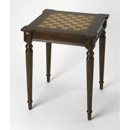 Walnut Veneer Mdf - Plantation Cherry - Dark Brown - Square - Poplar hardwood solids, MDF, Cherry, maple & walnut veneers - BUTLER DOYLE PLANTATION CHERRY GAME TABLE