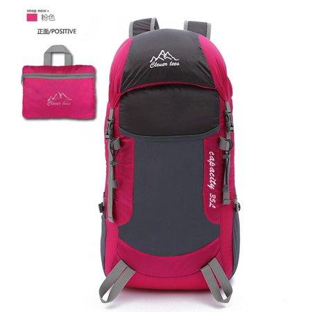 926a3bf97c Portable Folding Bag Ultra-light Skin Bag Travel Shoulder Bag Outdoor  Backpack Unisex Mountaineering Bag Rose Red - Walmart.com