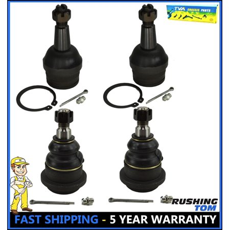 4Pc Kit Front Upper & Lower Ball Joint for Dodge RAM 1500 RWD (2002 Dodge Ram 1500 Upper Ball Joint Replacement)
