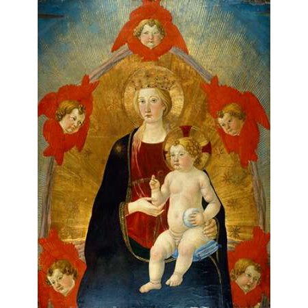 Madonna And Child With Cherubim Poster Print By Cosimo Rosselli