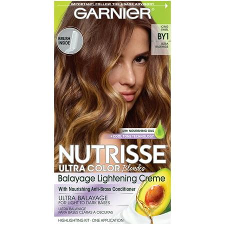 Garnier Nutrisse Ultra Color Nourishing Hair Color Creme, Icing Swirl BY1, Balyage Kit, 1 kit