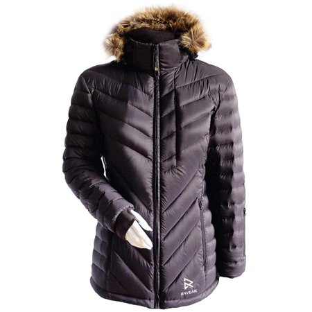 Ravean Women's Down Heated Jacket with 12V Battery Kit