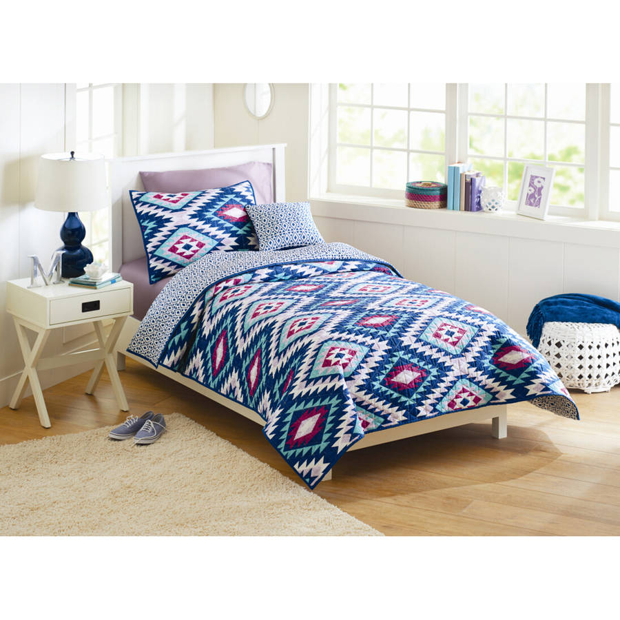 Bedding sets for teenage girls walmart - Better Homes And Gardens Southwest Aztec Quilt Bedding Set Walmart Com