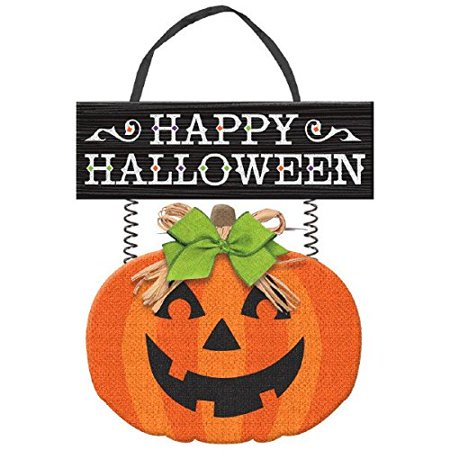 Deluxe Friendly Jack-O-Lantern Halloween Trick or Treat Hanging Decoration, Paper, 14 14