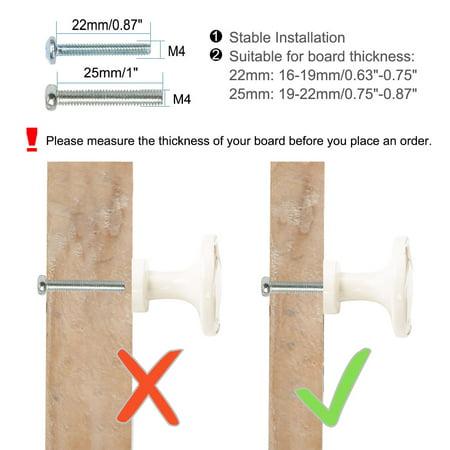 Zinc Alloy Knobs Round Drawer Handle Wardrobe Door Accessories 30mm, White 10pcs - image 7 of 8
