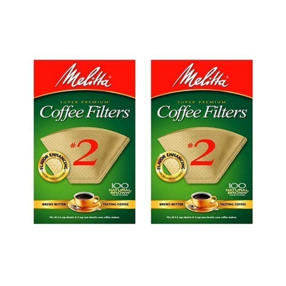 Cone Coffee Filter #2 Pack of 2 Natural Brown 100 Count