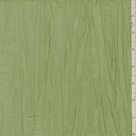 Hydrangea Green Crushed Polyester Taffeta, Fabric By the - Fabric Hydrangea