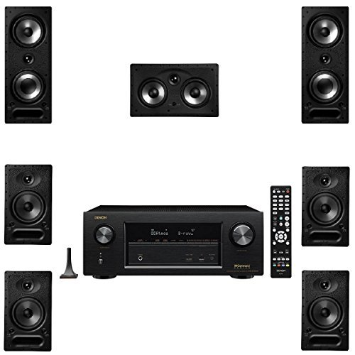 Polk Audio 265RT 7 Channel Speaker Package with 65RT and Denon AVRX2300W AV Receiver by Polk Audio