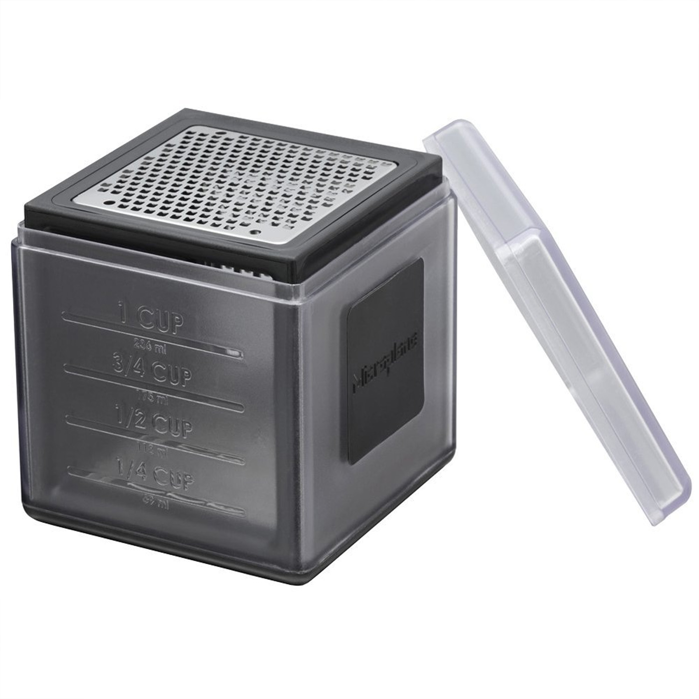 Microplane 3-in-1 Cube Grater, Black