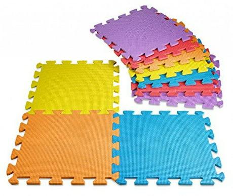 Creative Time Floor Mat 10 Tile Multi Color Exercise Mat