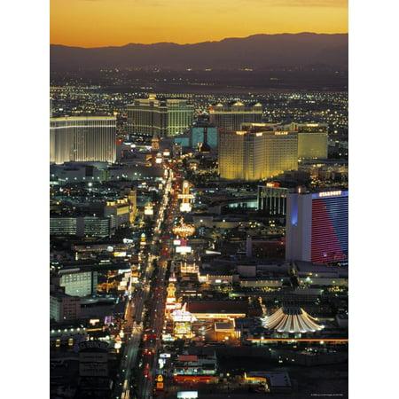 The Strip, Las Vegas, Nevada, USA Print Wall Art By Gavin Hellier (Vegas Halloween Strip)