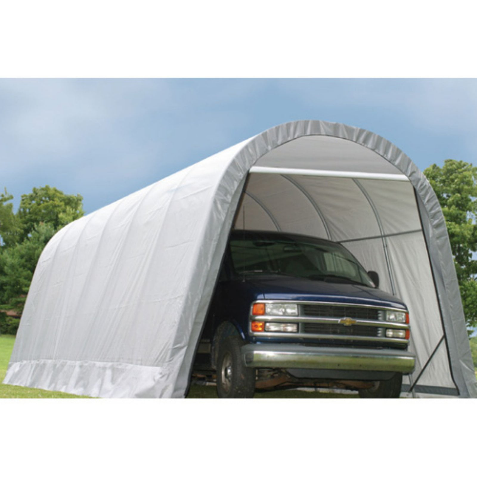Shelterlogic 13' x 28' x 10' Round Style Car Shelter by ShelterLogic Corp.