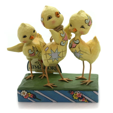 Jim Shore HOORAY FOR SPRING Polyresin Trio Of Chicks Easter 6001077 - Jim Shore Halloween Cats