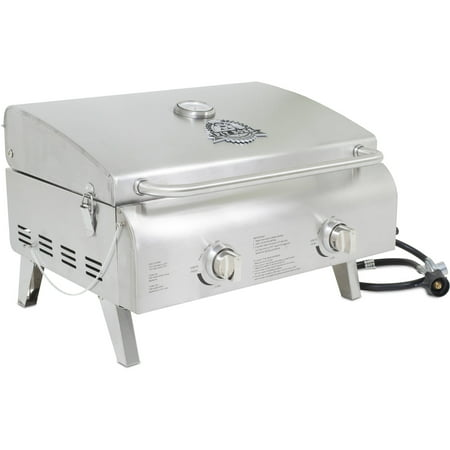Pit Boss 2-Burner Portable Gas Grill, Stainless Steel