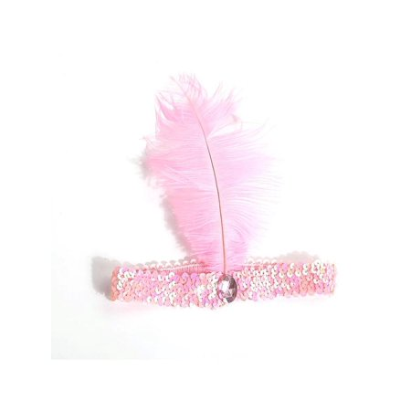 MarinaVida Vintage Sequin Feather Headband 1920s Great Gatsby Flapper Headpiece - Mens Hairstyles Of The 1920s