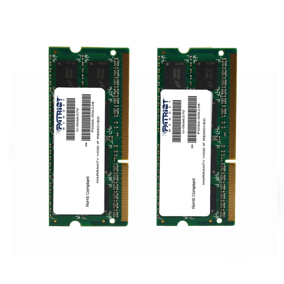 Patriot Mac Series 8GB Apple SODIMM Kit (2X4GB) DDR3 1333 PC3 10600 204-Pin SO-DIMM PSA38G1333SK
