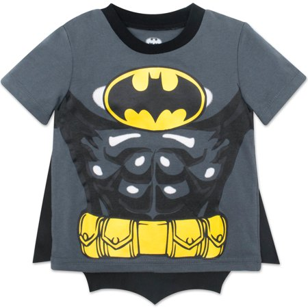Batman Toddler Boys' T-shirt with Cape, Grey (2T)](Toddler Batman Shirt With Cape)