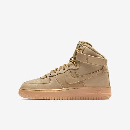 3492ae37ea2 Nike - Kids Nike Air Force 1 High WB GS Wheat Flax Gum Brown Outdoor Green  92 - Walmart.com