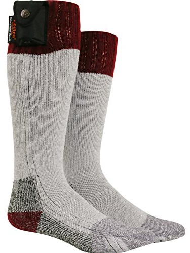 Nordic Gear Unisex Lectra Sox-Electric Battery Heated Socks Large X-Large Maroon by Heated Socks