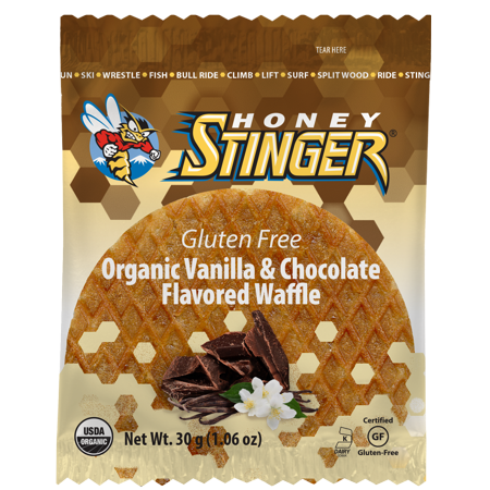 Honey Stinger Gluten Free Organic Energy Waffles, Vanilla & Chocolate, 16 Ct