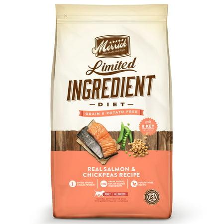 Merrick Limited Ingredient Diet Grain-Free Real Salmon + Sweet Potato Recipe Dry Dog Food, 22 lb