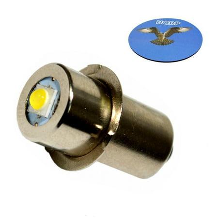 HQRP High Power Upgrade Bulb 3W LED 100LM 7-30V for Makita BML185 BML185W ML140 ML141 ML142 ML143 ML183 ML184 Flashlight A-94502 A94502 + HQRP Coaster