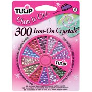 Tulip Glam-It-Up! Multi-Colored Iron-On Crystals, 300Pk