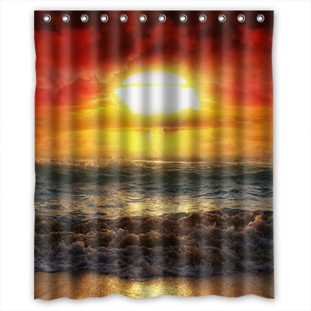 Hellodecor Sunrise Beaty Shower Curtain Polyester Fabric