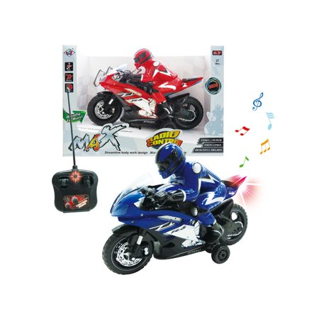 Highway Moto Remote Control RC Motorcycle Car w/ 180 Degree Spinning Action(COLOR MAY VARY) ()