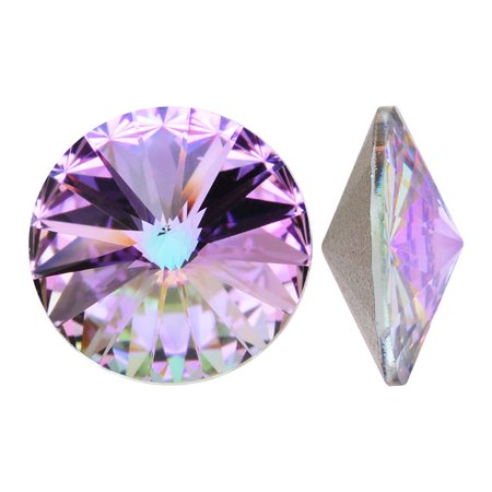 Swarovski Crystal, #1122 Rivoli Fancy Stones 12mm, 4 Pieces, Crystal Vitrail Light F